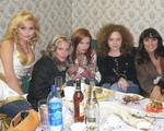 Группа Блестящие - в гримерке после выступления