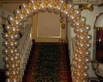 Оформление шарами - арка из шаров